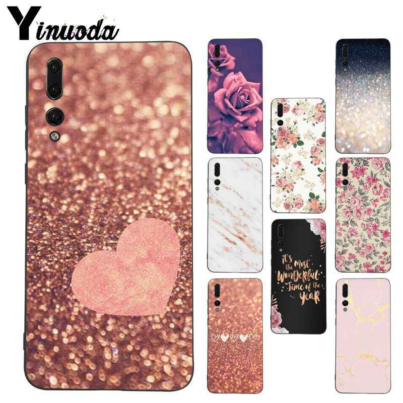 Yinuoda Rose Gold Diy Printing phone case for Huawei P20 Lite P10 Plus Mate9 10 Mate10 Lite P20 Pro Honor10 View10