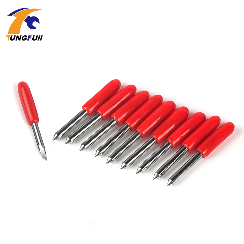 Tungfull 10Pcs 45 Degree Summa D Blade Cutting Plotter Vinyl Cutter Blade Summa Needle Knife Tool Cutter 20MM High Uality