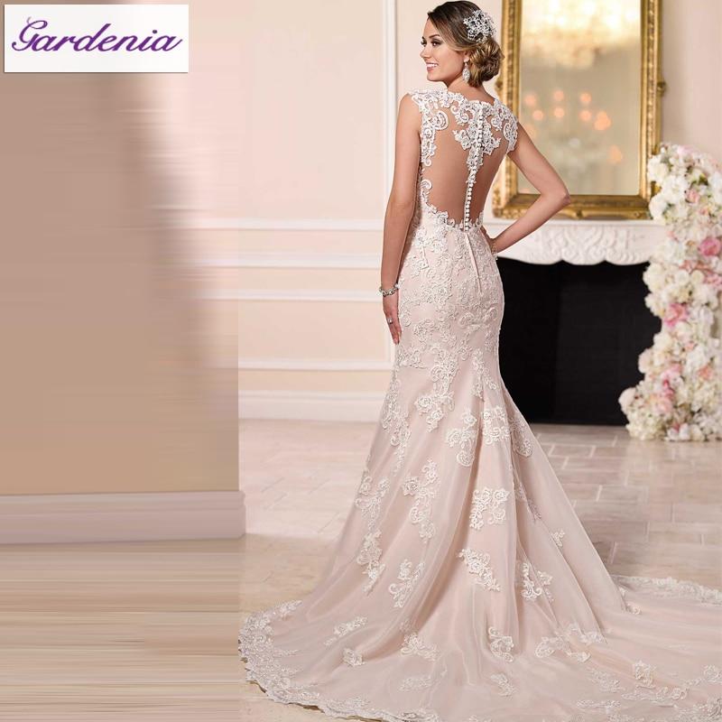famoso diseñador islámica boda vestidos de encaje robe de mariee see