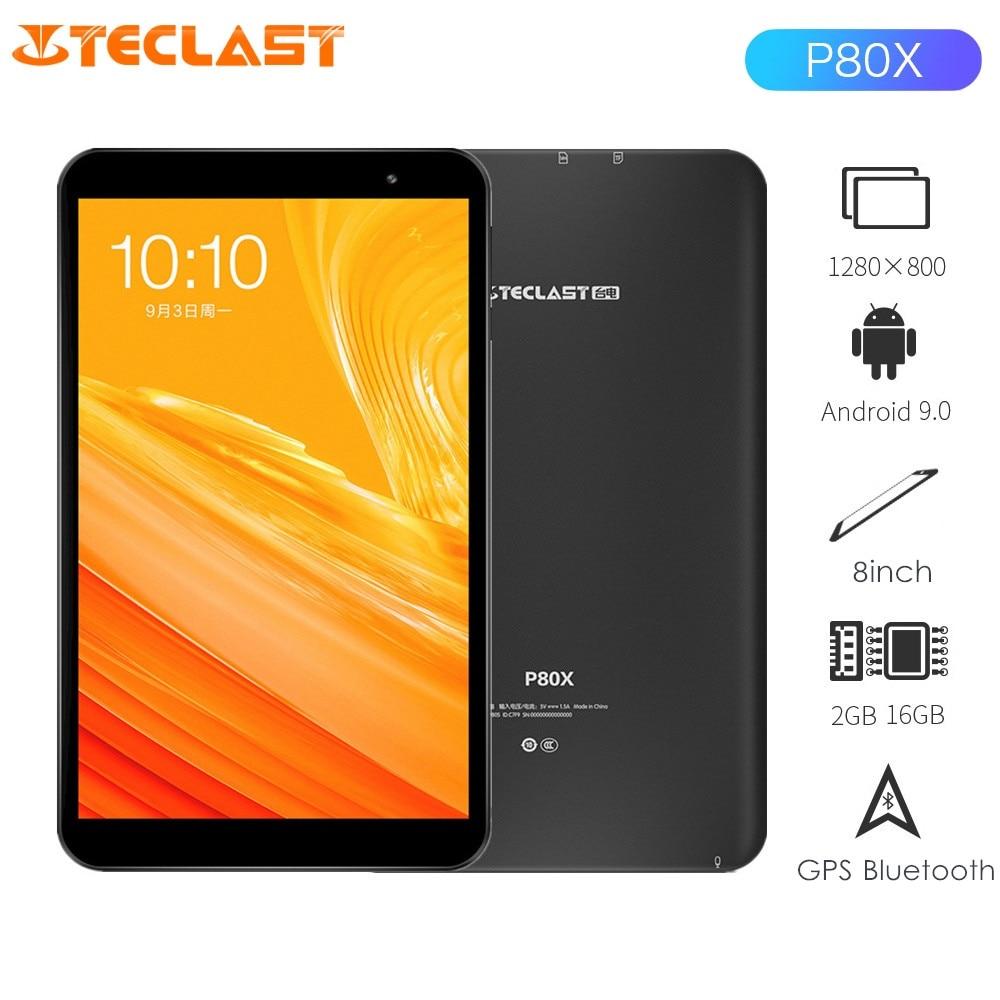Teclast P80X tablette 8.0 pouces Android 9.0 tableur SC9863A 1.6 GHz Octa Core 2 GB RAM 16 GB ROM double 4G alphablet GPS Bluetooth
