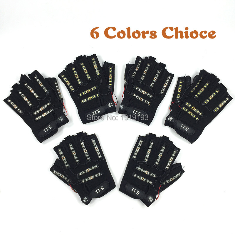 New Style Festival Gala Performance Led Rope Shining Gloves Carnival Decor Light Up Disco Glow Party Gloves as Holiday Lighting
