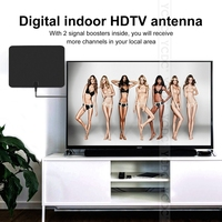 YCDC Indoor Digital TV Antenna USB Power Supply 50 Mile Range with 4M Coax Cable Signal Booster Amplifier High Reception HDTV
