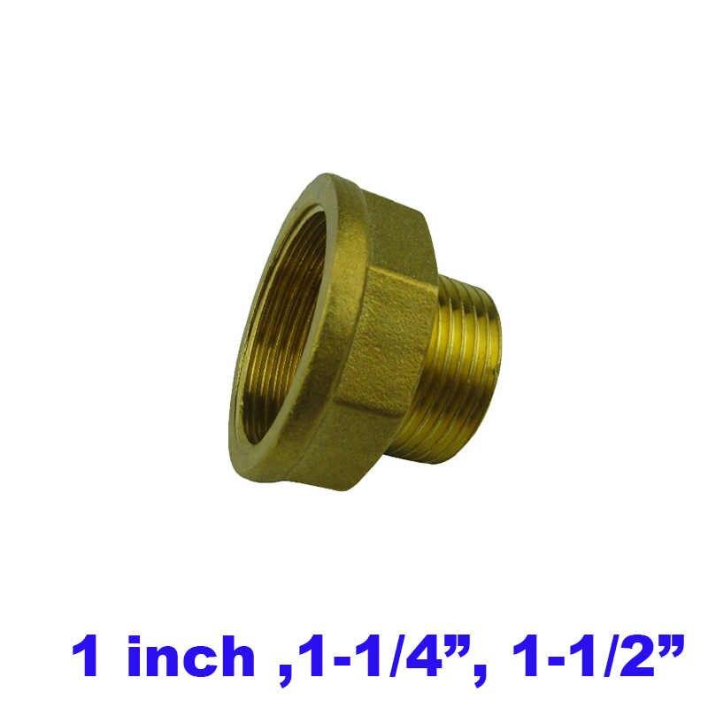 2 個ロット DN25 DN32 DN40 真鍮フィッティング 1 インチ 1 1/4 1-1/2 2 インチの g 糸組合男性とメスコネクタ水ジョイント