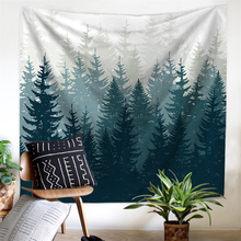 Landscape Wall Tapestry Nature Art Wall Cloth Tapestries Boho Decor Psychedelic Mandala Tapestry Wall Hanging Carpet Throw Rugs
