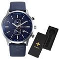 2016 Men Watch Quartz LuxuryNORTH Watches Men Classic Date Waterproof Male Wristwatch Relogio Masculino  with watch box