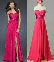 Billige Kundenspezifische Farbe! Mode Sexy lange Split Prom kleider multicolor abendkleid brautjungfer partei jahrestagung kleid