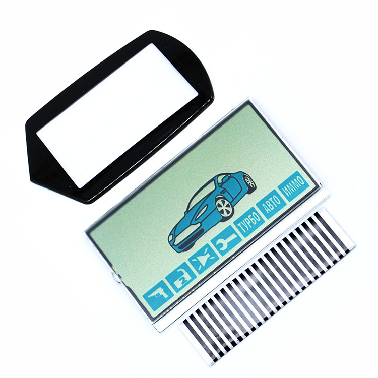 A61 LCD Display Flexible Cable+ LCD Keychain Glass For Starline A61 Lcd Remote Controller A61 Display With Zebra Stripes