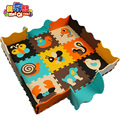 Cerca de 9 pçs/set jogar baby mat puzzle de espuma de EVA/espuma de EVA Dos Desenhos Animados pad/Esteiras de Bloqueio para kids30X30cm 1 cm de Espessura