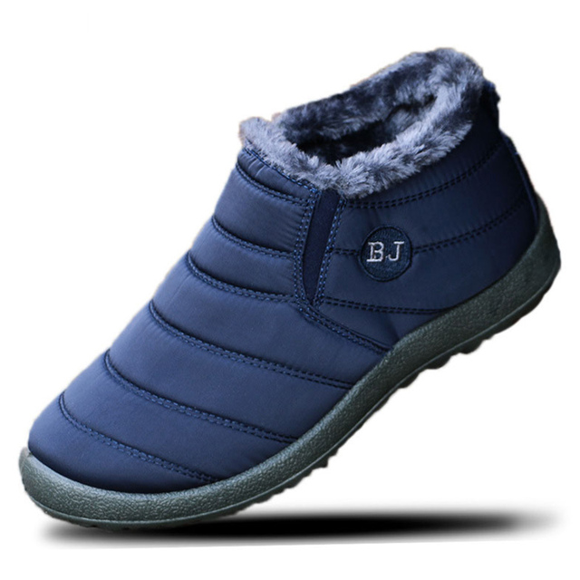 Size 39-46 Men Winter Shoes Couple Unisex Snow Boots Warm Fur Inside Bottom Keep Warm Father Casual Boots