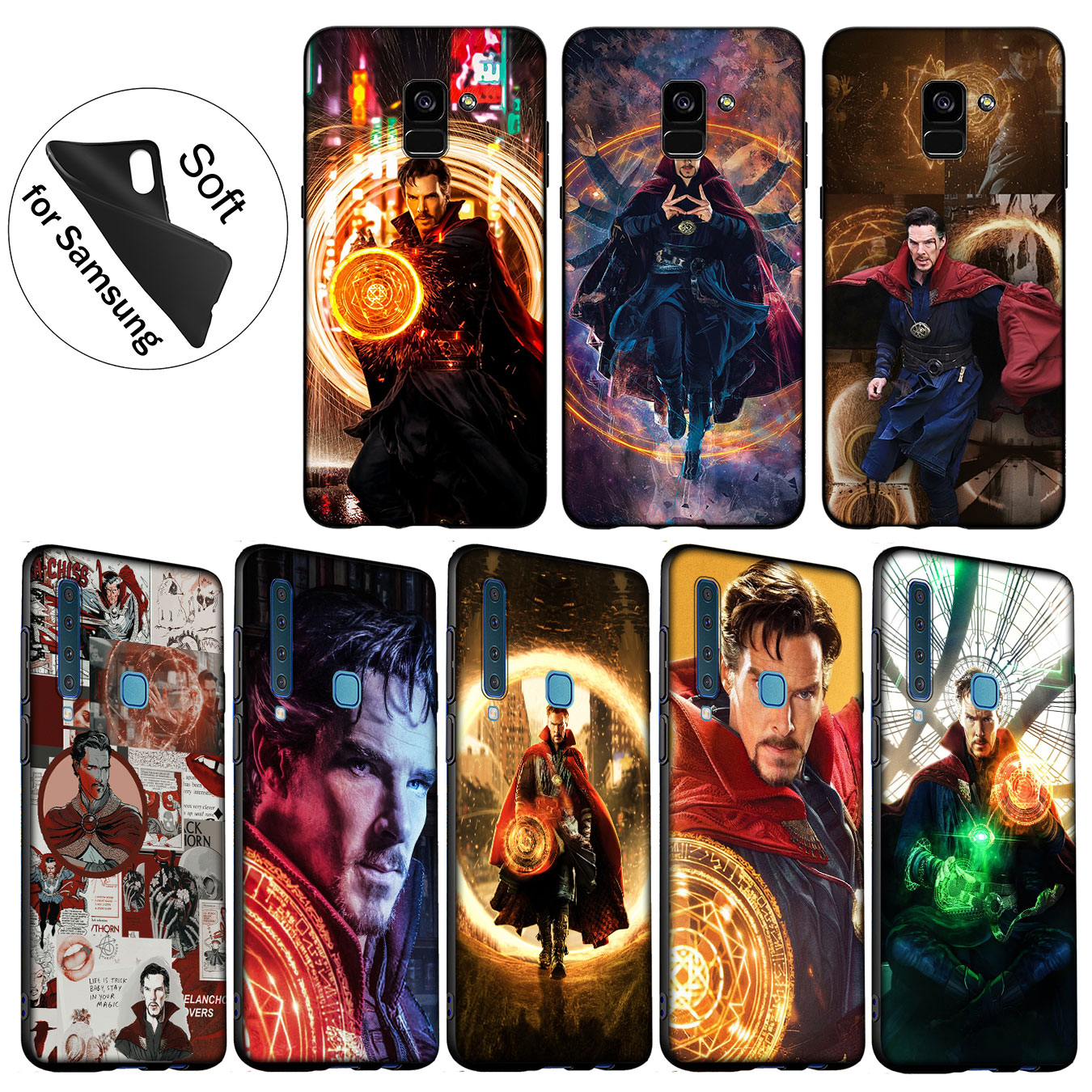Iyicao Marvel Doctor Stephen Strange Soft Silicone Cover Case For Samsung Galaxy A6 Plus A9 A8 A7 2018 A3 A5 2016 2017 Note 9 8 Crease-Resistance Fitted Cases Cellphones & Telecommunications