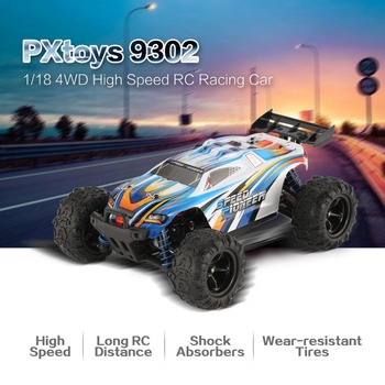 Original 4WD Off-Road RC Vehicle PXtoys NO.9302 Speed for Pioneer 1/18 2.4GHz Truggy High Speed RC Racing Car RTR Monster Truck