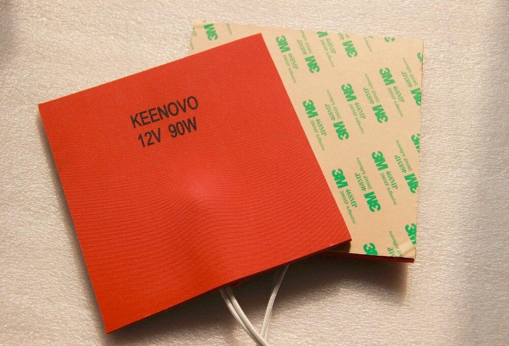 Keenovo силиконовый Нагреватель Pad мм 150*150 мм 90W @ 12 В в, мм w/5 теплоизоляция силиконовая губка/пена, и термостат 90 град C