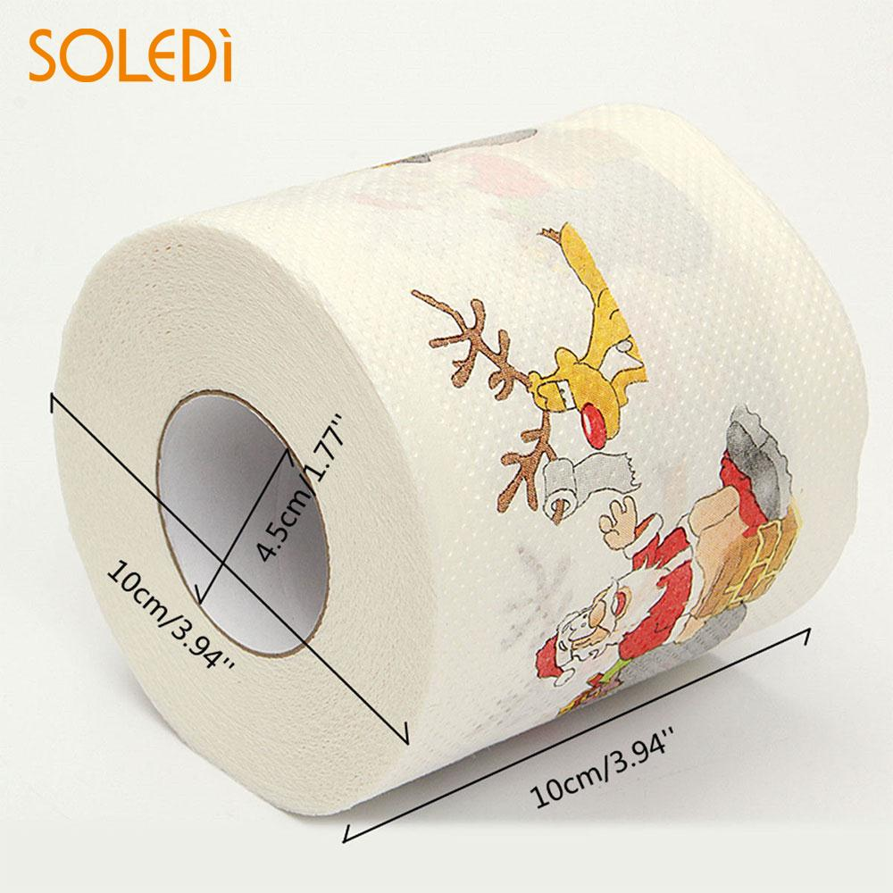 Santa Claus Tissue Practical Room Toilet Roll Paper Cartoon Home Festival