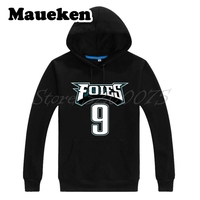 Men Hoodies Nick Foles 9 MVP philadelphia Champions Sweatshirts Hooded Thick for fans Autumn Winter W18020118