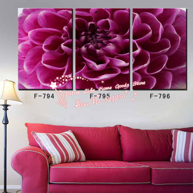 Modern Wall Art Home Decoration Printed Oil Painting Pictures No Frame 3  Panel Cheap Office Art