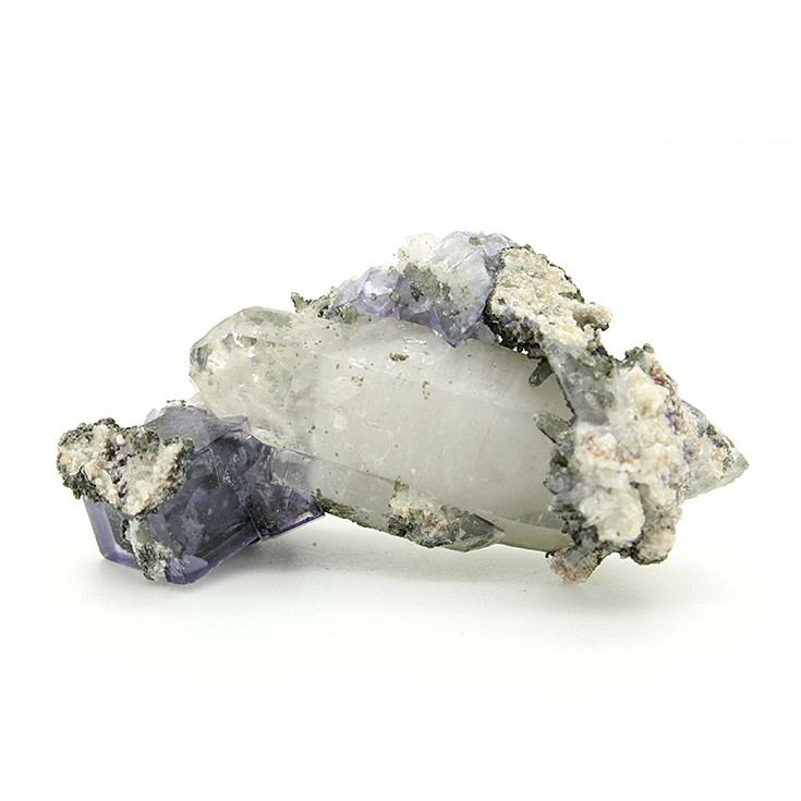 Yaogangxian purple fluorite crystal symbiotic small ornaments mineral specimens teaching specimens favorites Extraordinary Gifts