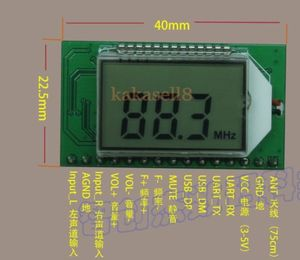 Image 2 - PLL LCD Digital FM Radio Receiver Module 87 108MHZ Wireless Microphone Stereo