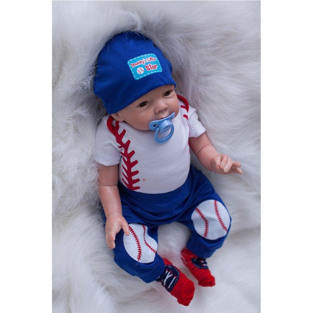 Xrnt Silicone Baby Doll Reborn Boy Toy 22inch 55cm Real