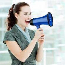 Mealivos Blue Portable Megaphone 20 Watt Power Speaker Bullhorn Voice And Siren/Alarm Modes