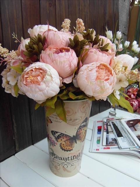 On Sale Single Fashion Oil Painting Silk Flowers Peony Large