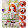1 Pair Cute Floral Bowknot Blyth Doll Shoes Suitable for Pullip, Licca, Azone, 1/8 BJD Doll Shoes