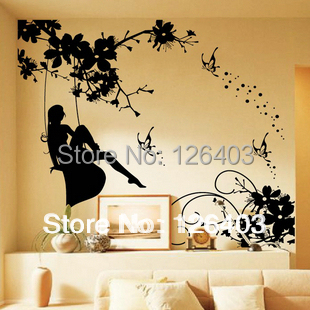 3d Butterfly Flower Wall Decor Decals Living Room Home