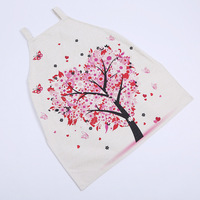 2017 Christmas Hot Sale New Funny Novelty Apron Red Heart And Tree Pattern Kitchen Cooking Bbq