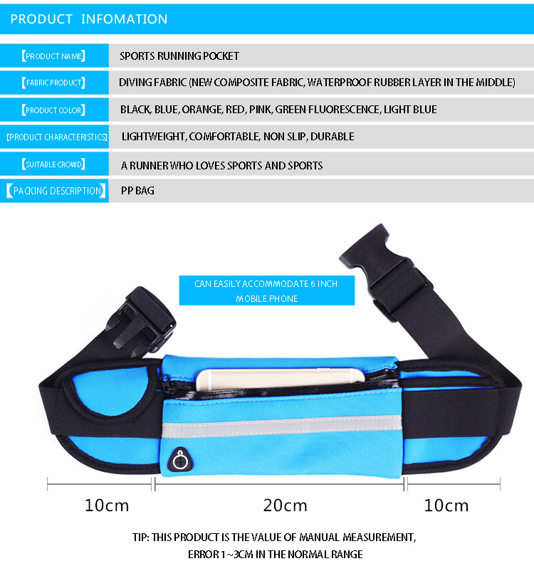 Hot Outdoor Running Waist Bags Men Women waist Packs Bags Unisex Sport Nylon Waistband for accessory men Small Travel Belt Bag 18