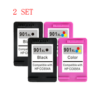 2 Set 4 Pcs Ink Cartridge For HP 901 Xl For HP901 Officejet 4500 J4580 J4550