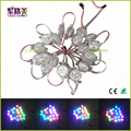 WS2811/WS2801/DMX512/LPD6803 LED Pixel Module Full Color RGB 3LEDs 5050 led lights string DC12V Transparent Cover Christmas