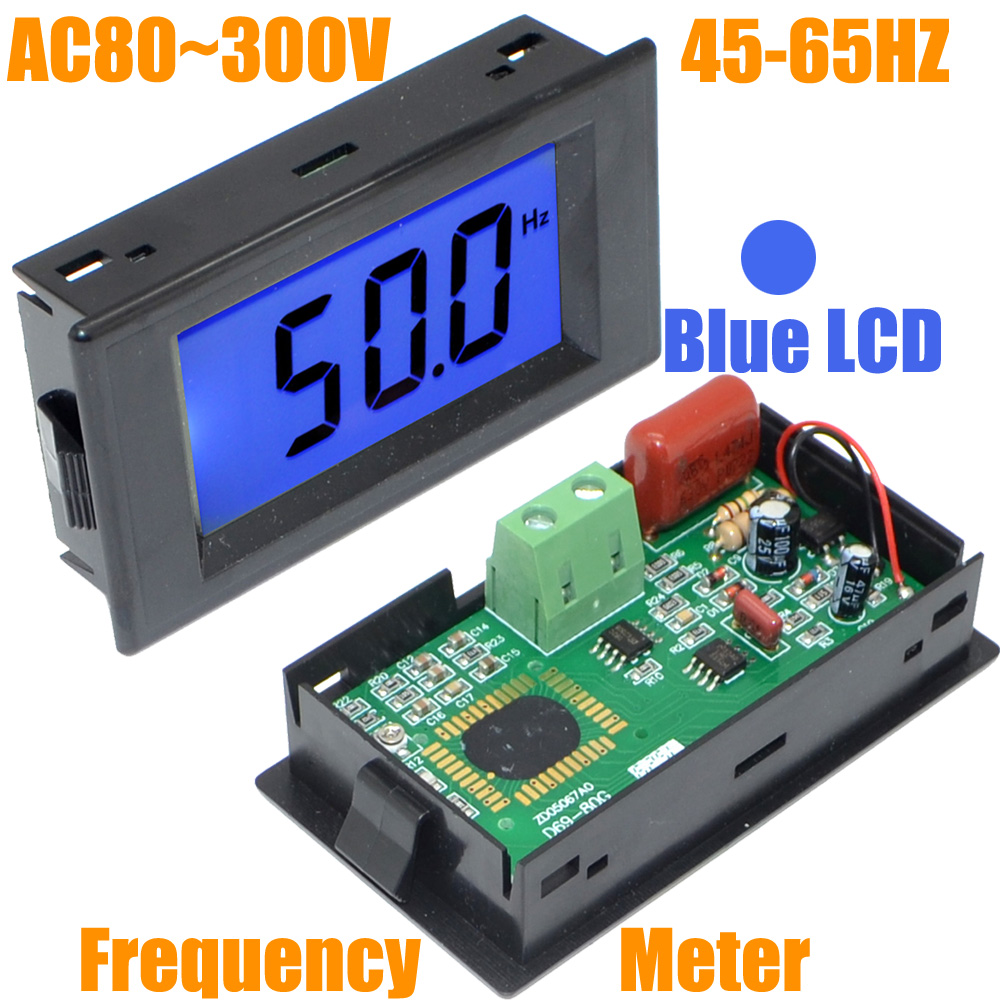 Panel Mount Frequency Counter : Wholesale ac v hz blue lcd digital frequency