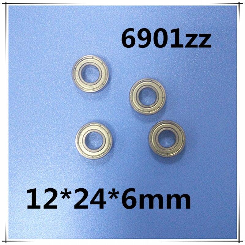 12mm radial shaft 6901ZZ ball bearing 12*24*6 12x24x6mm metal shield 61901-ZZ deep groove ball bearing