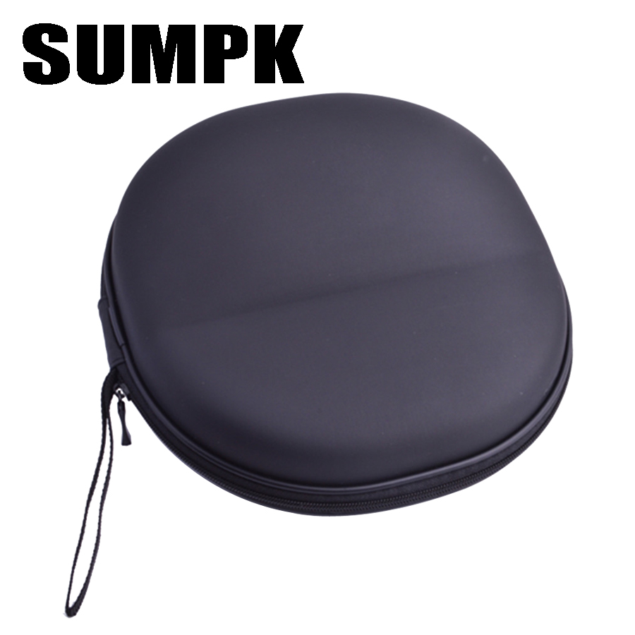 SUMPK 200*210*95mm Black EVA Headphone Box for ATH-M30x M40x M50X Sony MDR ZX700/7510/7520 Monitor Headphones Carry bag