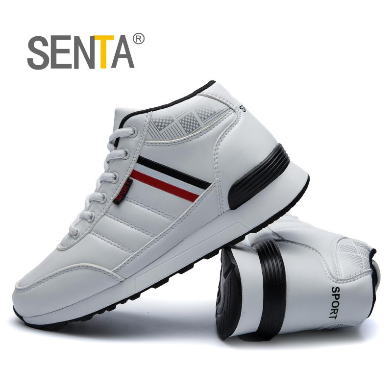 SENTA New Style Men Running Shoes Outdoor Jogging Training Shoes Sports Sneakers Men Keep Warm Winter Snow Shoes For Running