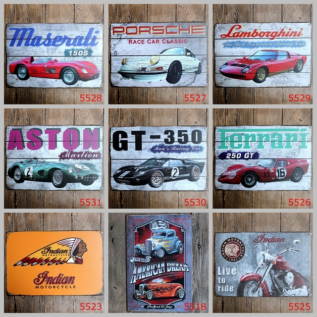 Us 7 3 33 Off Hot Sales Motorcycle Classic Cars Tin Signs Movie Poster Art House Cafe Bar Vintage Metal Painting Wall Stickers Home Decor In