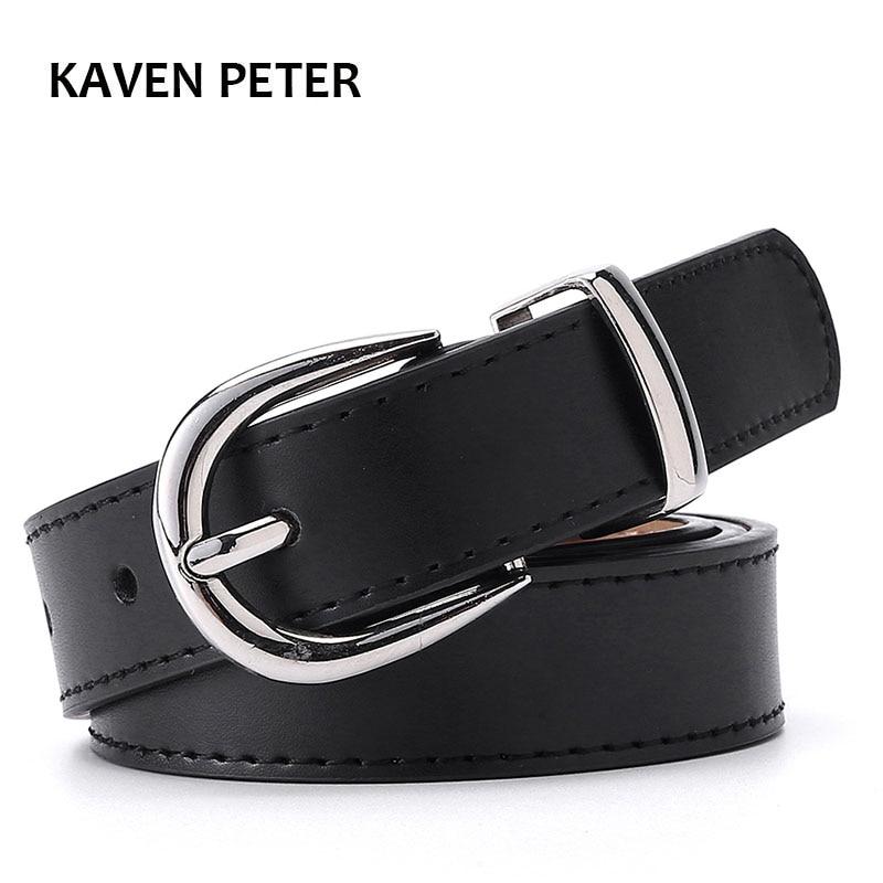 Women Belt Cummerbunds Belts For Women Dress Apparel Lady Pu Leather Black Waist Belts Women Sliver Buckle Cinturon Mujer