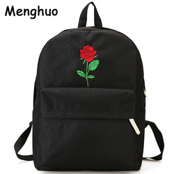 Men canvas heart backpack cute women rose embroidery backpacks for teenagers women s travel bags mochilas.jpg 250x250