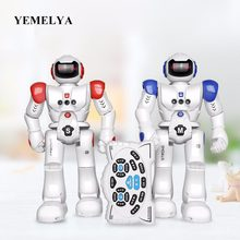 Smart RC Robots Intelligent Programming Gesture Sensing LED Dancing Robot RC Toy For Kid Gifts(China)
