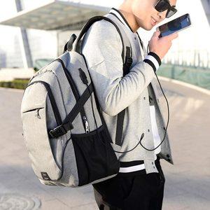 Image 2 - 2020 nova moda multifuncional de carregamento usb portátil mochila saco do estudante das mulheres cor sólida mochilas femininas