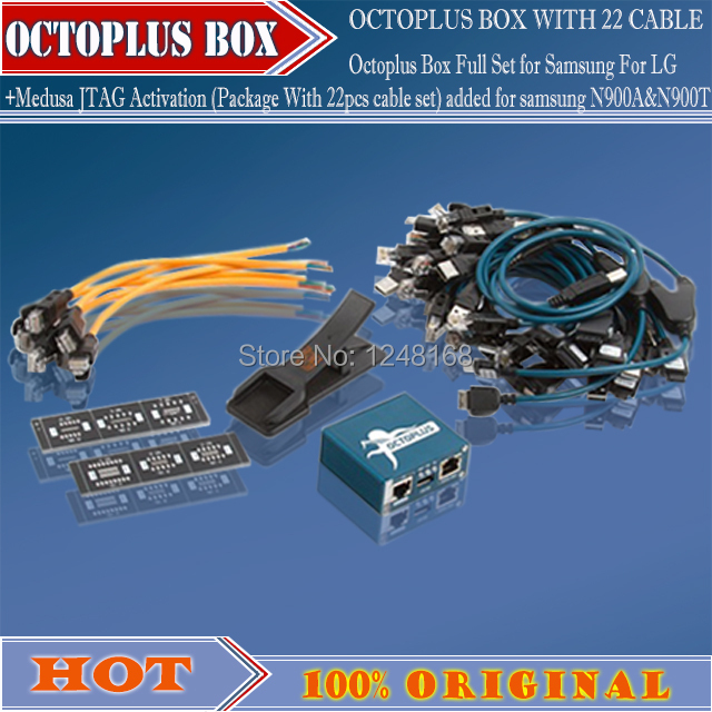 Octoplus Box Full Set for Samsung For LG+Medusa JTAG Activation (Package With 22pcs cable set) added for samsung N900A&N900T