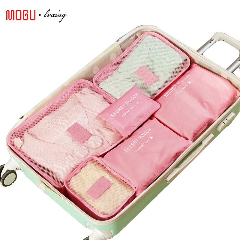 MOGULVXING Packing Cube Travel Bag 6pcs/set Men And Women Luggage Travel Bags  Clothing Sorting Organize Bag Wholesale