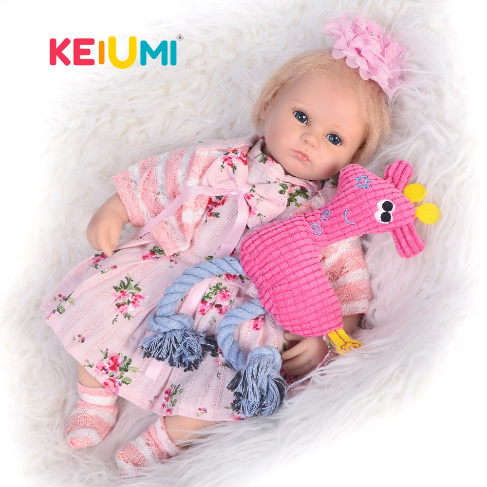 Unique 17 42 cm Soft Silicone Reborn Baby Girl Doll Cute Simulation Doll Baby Toy For Child Birthday Gift Brinquedos MeninaUnique 17 42 cm Soft Silicone Reborn Baby Girl Doll Cute Simulation Doll Baby Toy For Child Birthday Gift Brinquedos Menina