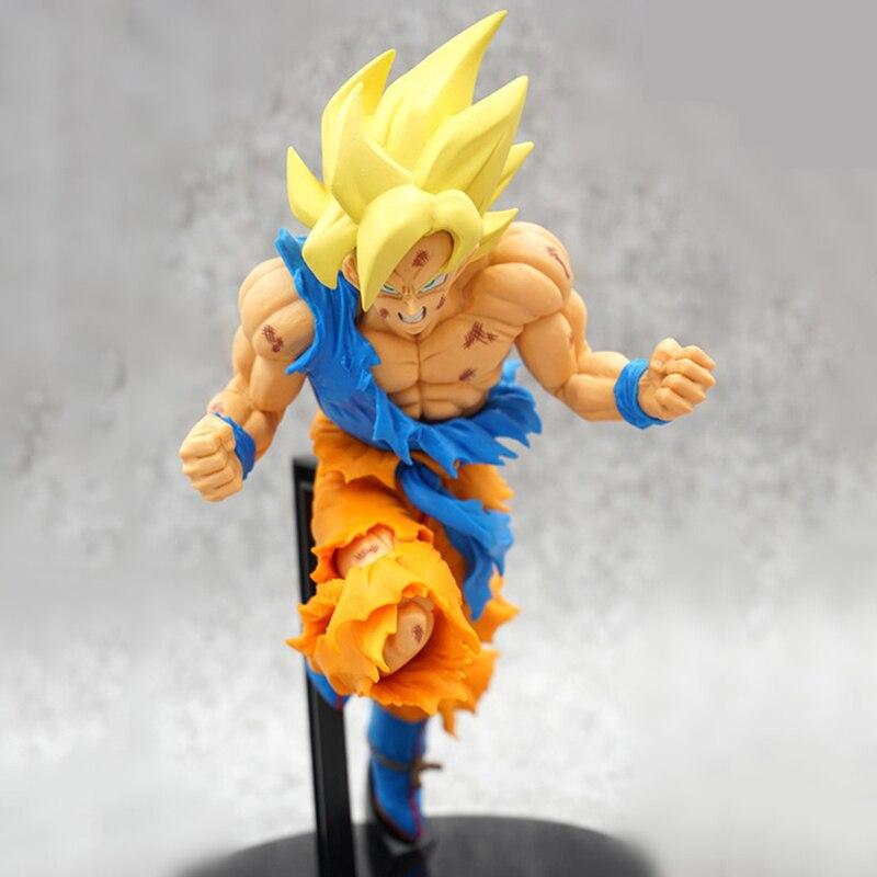 Action Figure Anime Dragon Ball 19 CM Super Saiyan 2 Gokou Black PVC Collection Model Kids Toy Doll F4