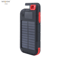 Wopow 10000mAh Power Bank Universal Portable Solar Charger Dual USB External Charger Battery PowerBank With LED