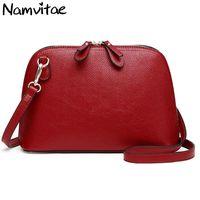 Namvitae Brand Genuine Leather Women Shoulder Bag High Quality Cow Leather Small Crossbody Shell Bag Female