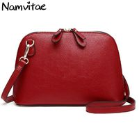 Namvitae Brand Genuine Leather Women Shoulder Bag High Quality Cow Leather Small Crossbody Shell Bag Female