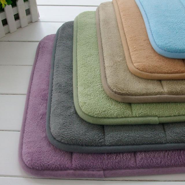 Extra Large Memory Foam Anti-Skid Bath Mat,Super Soft Bathroom RugsCoral Velvet Non Slip Bath Mat,Absorbent Large Bath Rugs