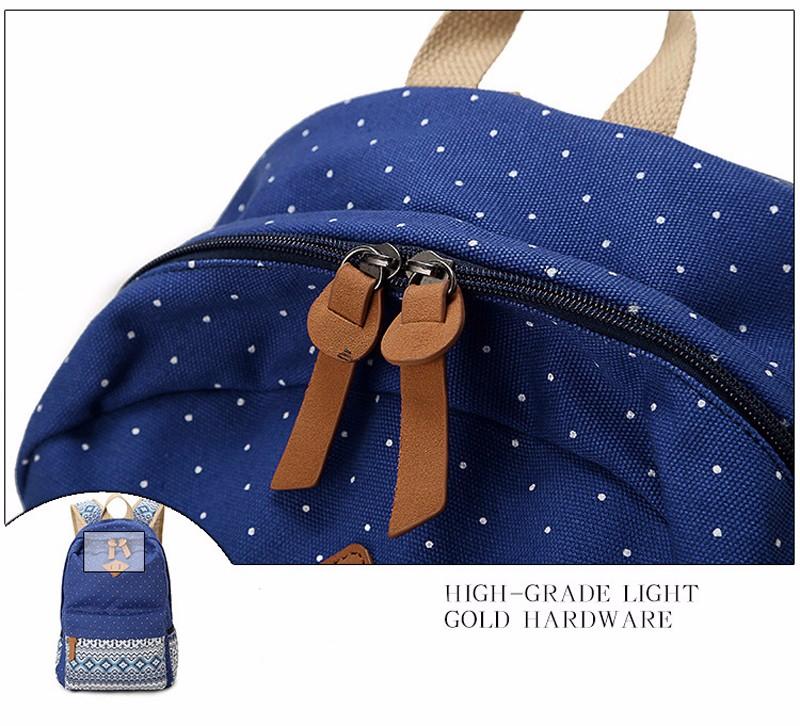 Canvas Printing Backpack Women School Bags for Teenage Girls Cute Bookbags Laptop Backpacks Female Bagpack 3 Piece one Set 12