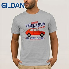 Newest 2019 Fashion VINTAGE ITALIAN CAR FIAT 127 - NEW COTTON T-SHIRT O Neck T-Shirts Male Low Price Steampunk(China)