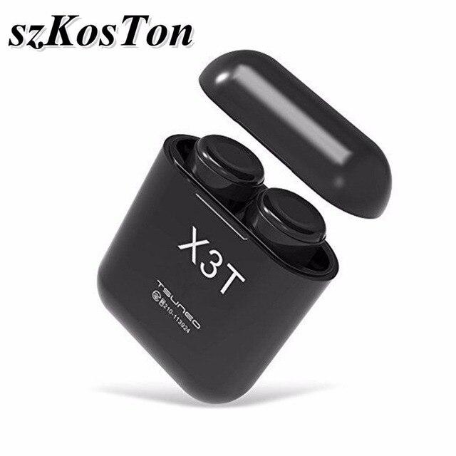 1 Pair TWS X3T Impermeabile Mini HiFi Senza Fili di Bluetooth del Trasduttore  Auricolare Senza Fili Auricolare Auricolari con Il Mic per Honor 10 Xiaomi  ... 9733111b39ad